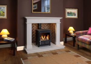 Balmora shown with columbia Gas stove.