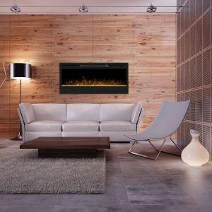 Living Room interior at night 3d render